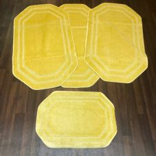 ROMANY WASHABLES NEW GYPSY SETS OF 4PCS LEMON MATS NON SLIP TOURER SIZE RUGS